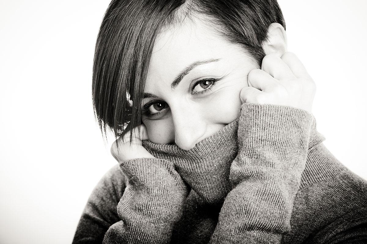 modella sala posa grosseto Giada, foto per cover del suo disco